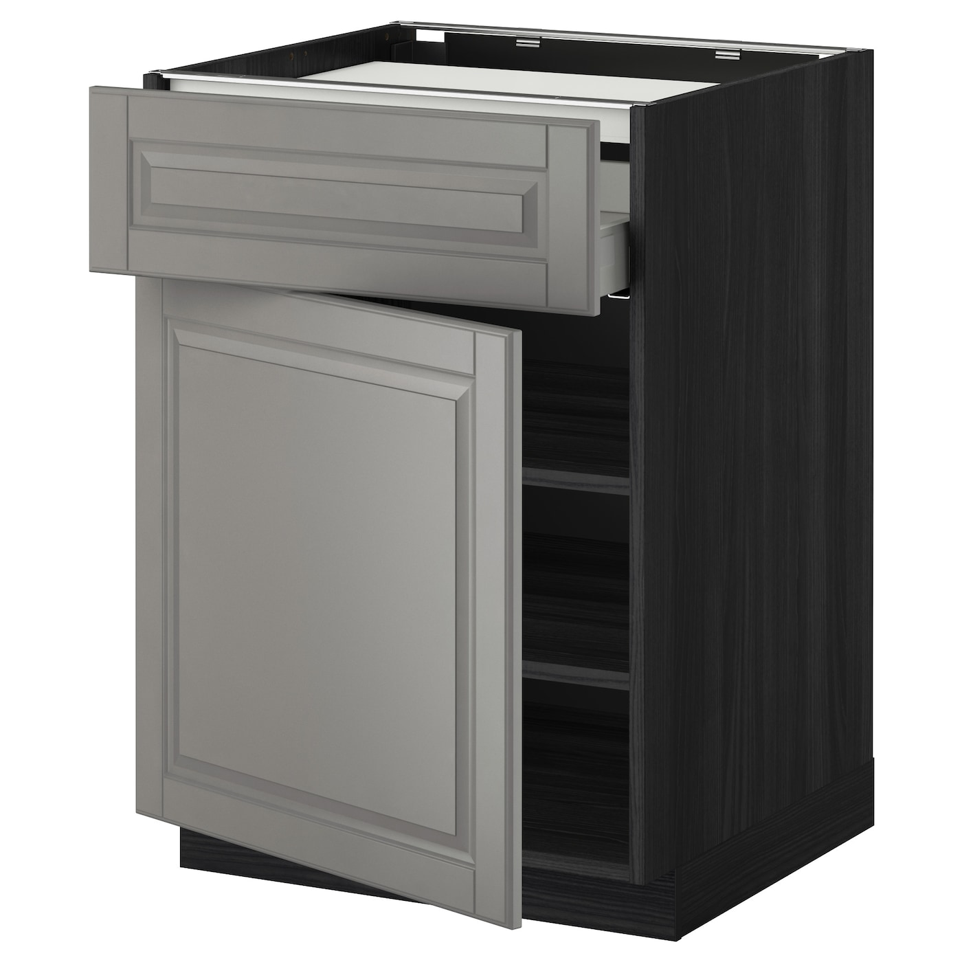 IKEA METOD/MAXIMERA base cab f hob/drawer/shelves/door Smooth-running drawers with stop.