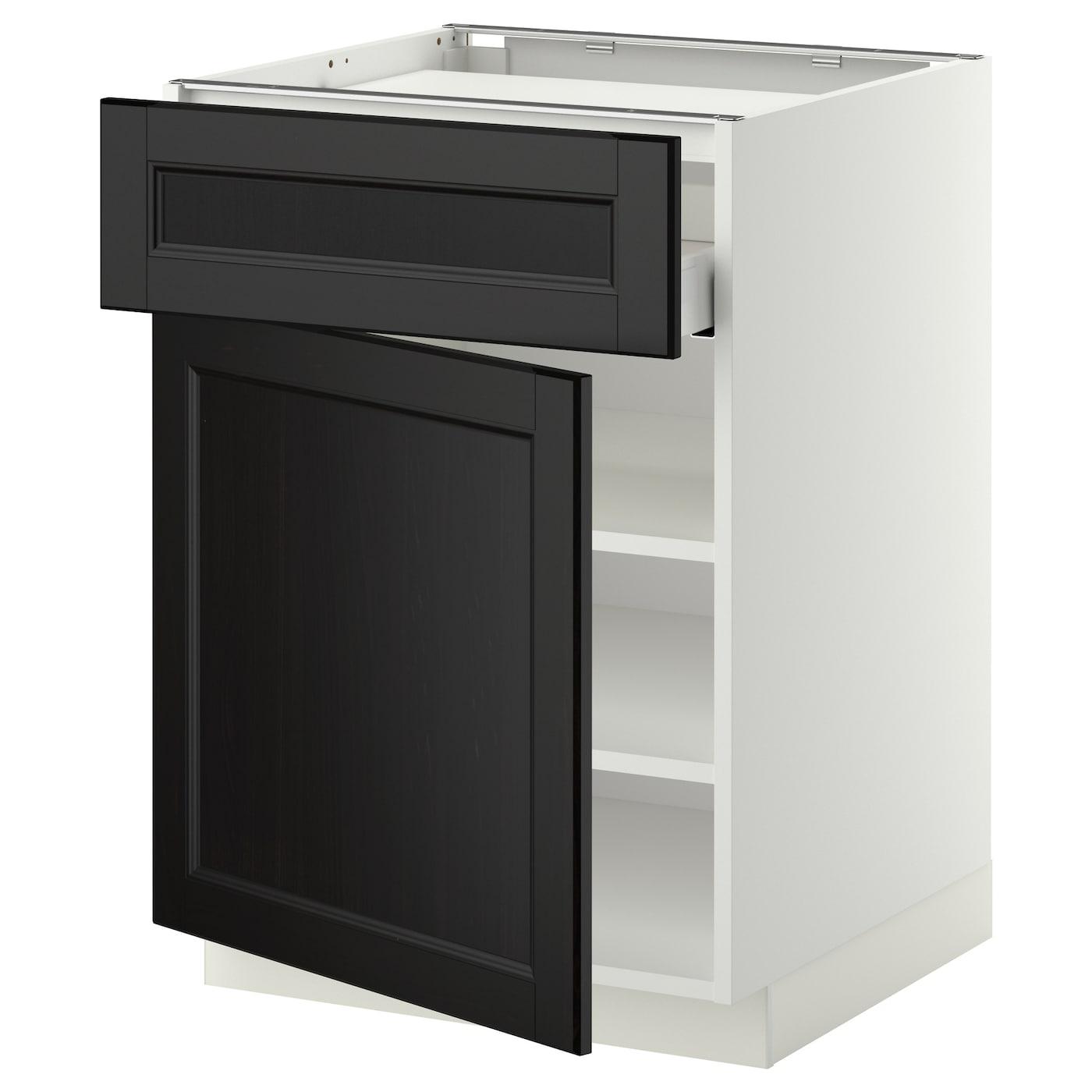 metod maximera base cab f hob drawer shelves door white. Black Bedroom Furniture Sets. Home Design Ideas