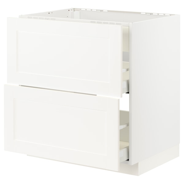 METOD / MAXIMERA base cab f hob/int extractor w drw white/Sävedal white 80.0 cm 61.6 cm 88.0 cm 60.0 cm 80.0 cm