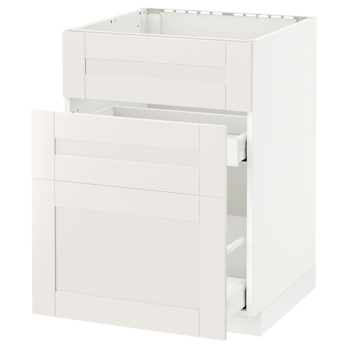 IKEA METOD/MAXIMERA base cab f sink+3 fronts/2 drawers Smooth-running drawer with drawer stop.