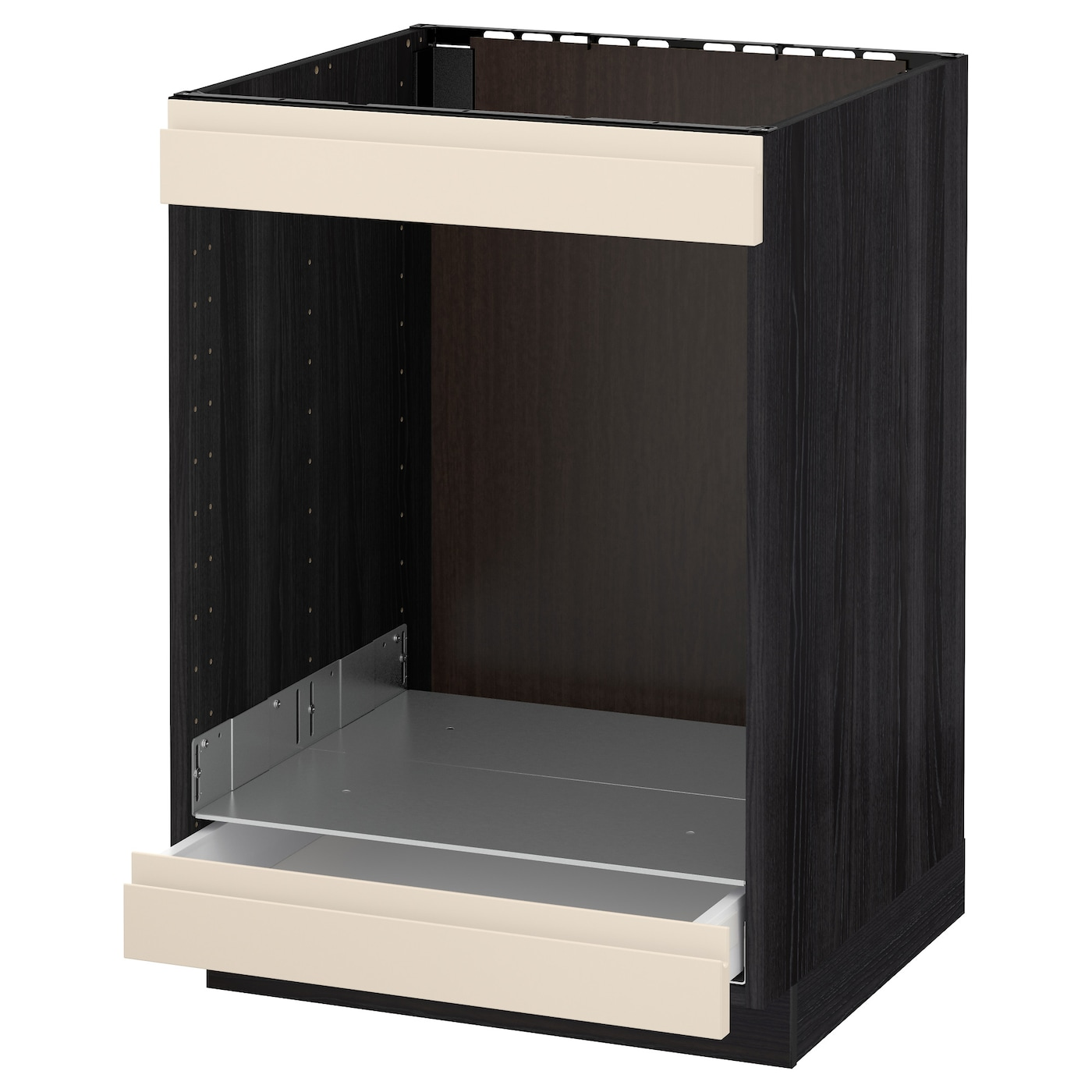 IKEA METOD/MAXIMERA base cab for hob+oven w drawer Sturdy frame construction, 18 mm thick.