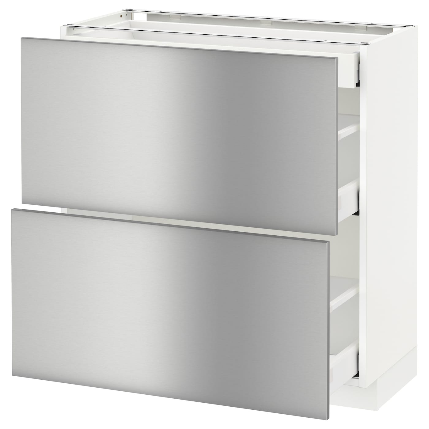 IKEA METOD/MAXIMERA base cab with 2 fronts/3 drawers Smooth-running drawers with stop.