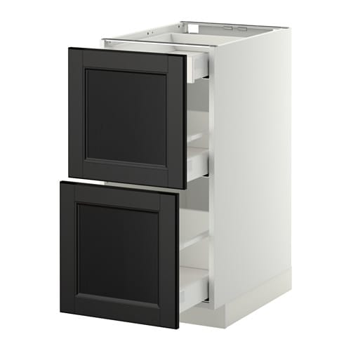 metod maximera base cab with 2 fronts 3 drawers white. Black Bedroom Furniture Sets. Home Design Ideas