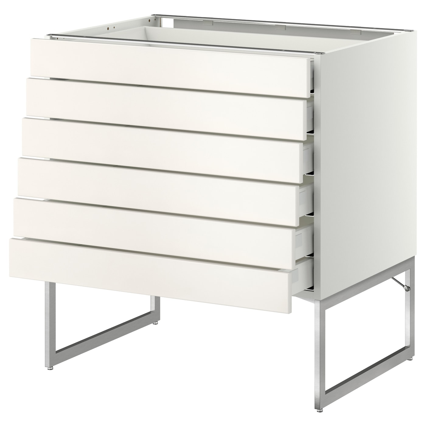 IKEA METOD/MAXIMERA base cabinet 6 fronts/6 low drawers Smooth-running drawers with stop.