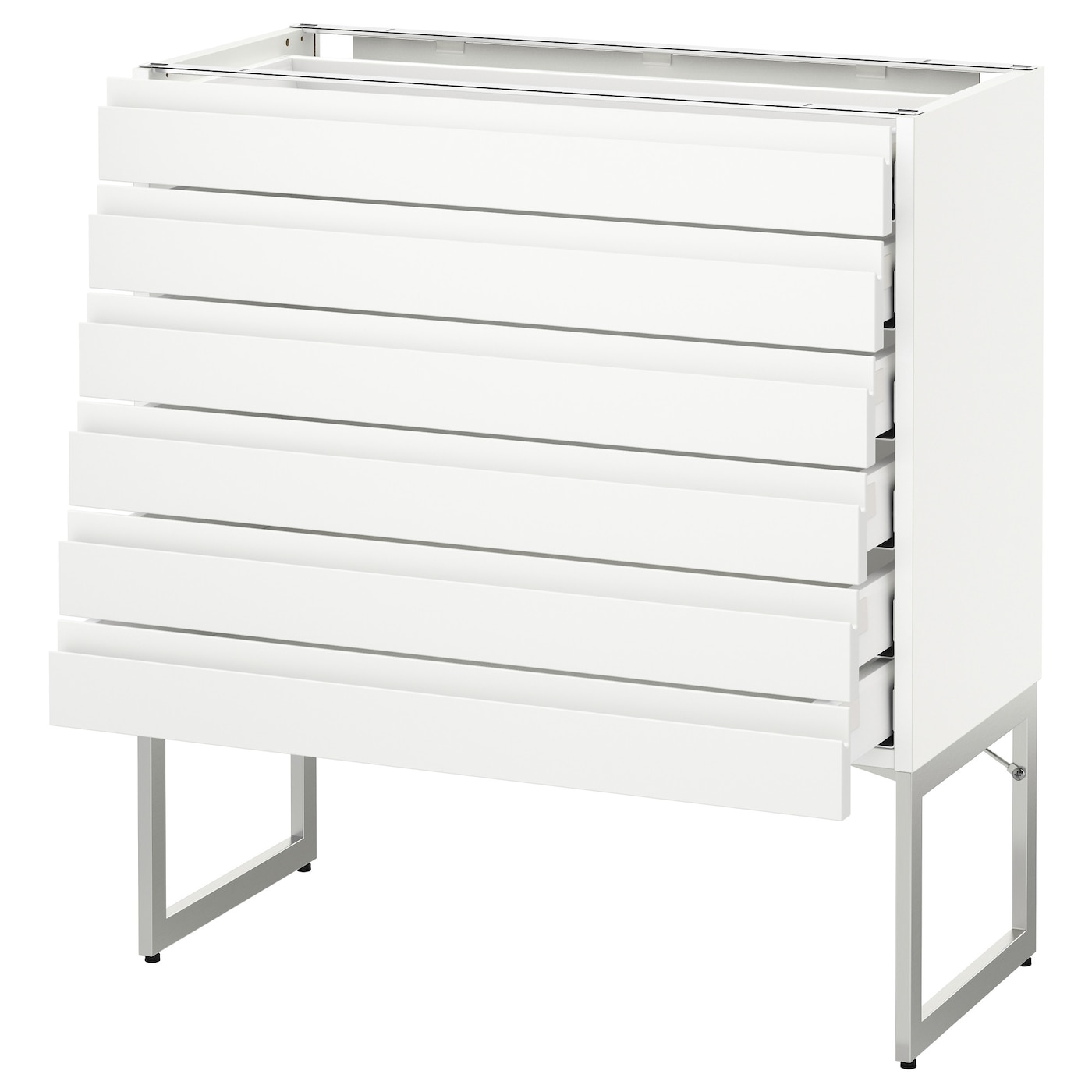 Metod Maximera Base Cabinet 6 Fronts 6 Low Drawers White Voxtorp White 80x37x60 Cm Ikea