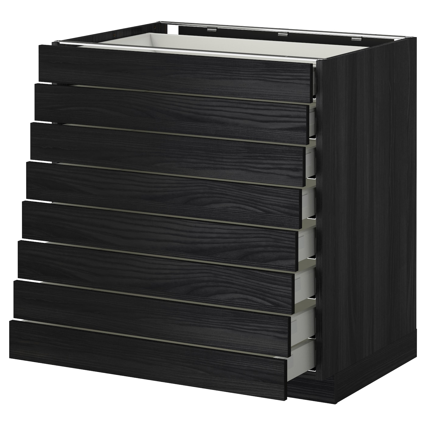 Metod Maximera Base Cabinet 8 Fronts 8 Low Drawers Black Tingsryd Black 80x60 Cm Ikea