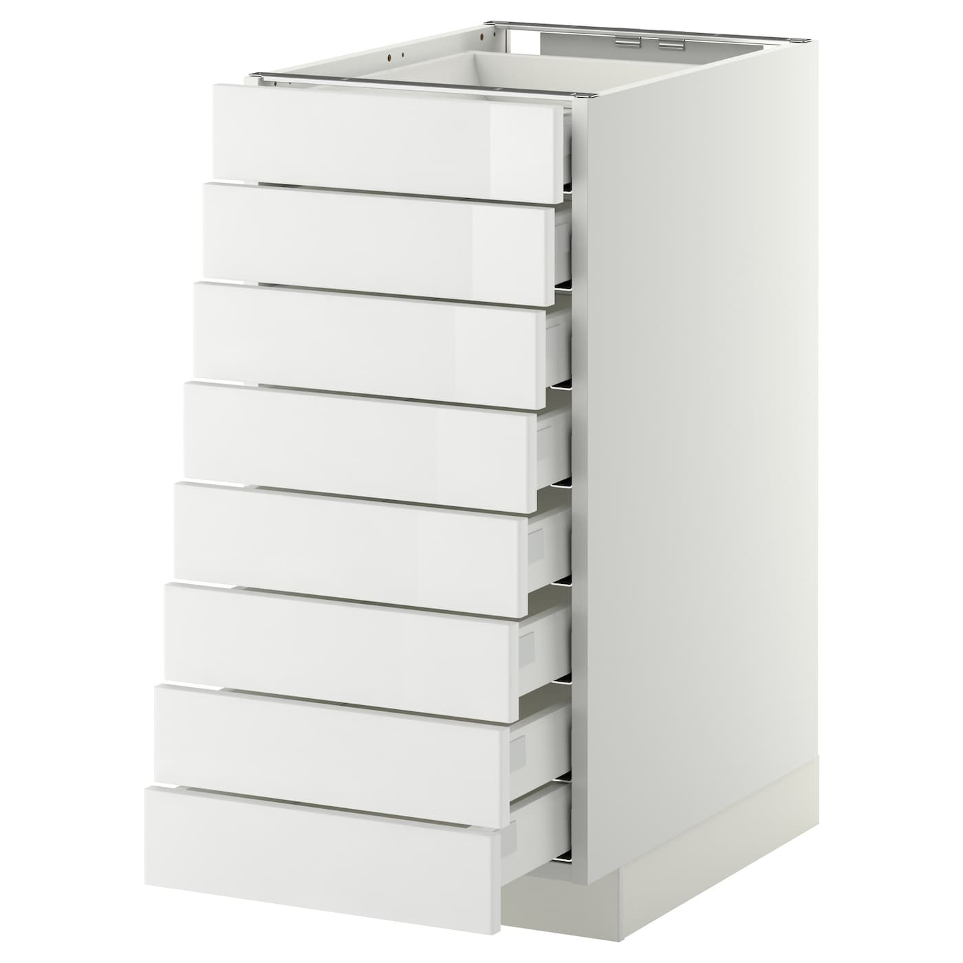 Metod Maximera Base Cabinet 8 Fronts 8 Low Drawers White Ringhult White 40x60 Cm Ikea