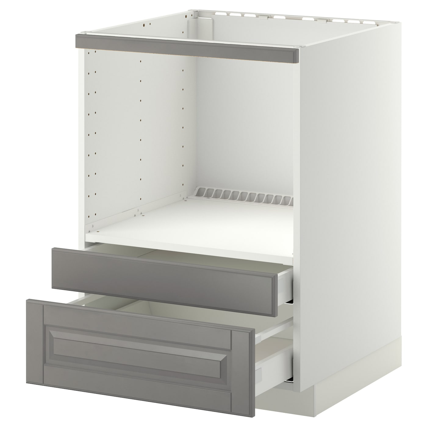 IKEA METOD/MAXIMERA base cabinet f combi micro/drawers Smooth-running drawers with stop.
