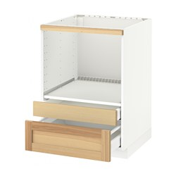 Metod maximera base cabinet f combi micro drawers white for Meuble four plaque encastrable