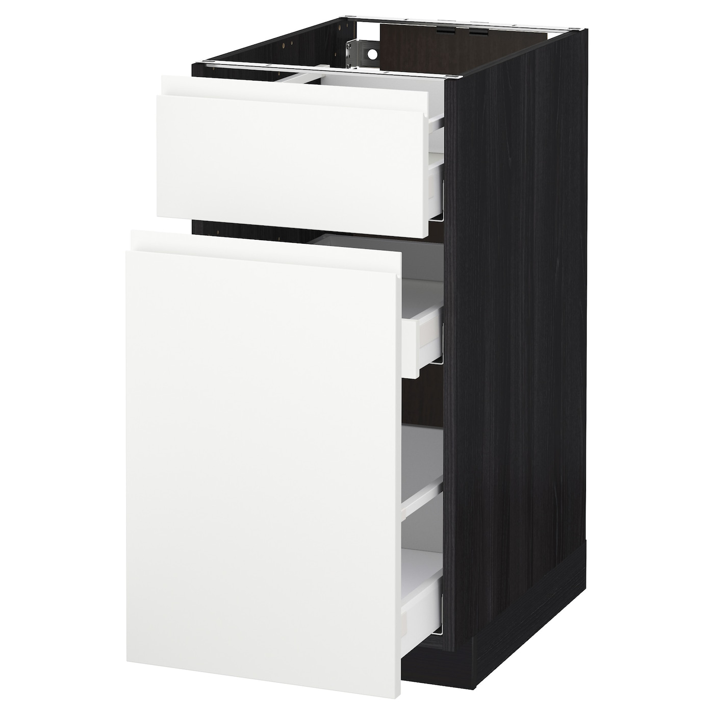 Metod maximera base cabinet p out storage drawer black for Ikea storage cabinets kitchen