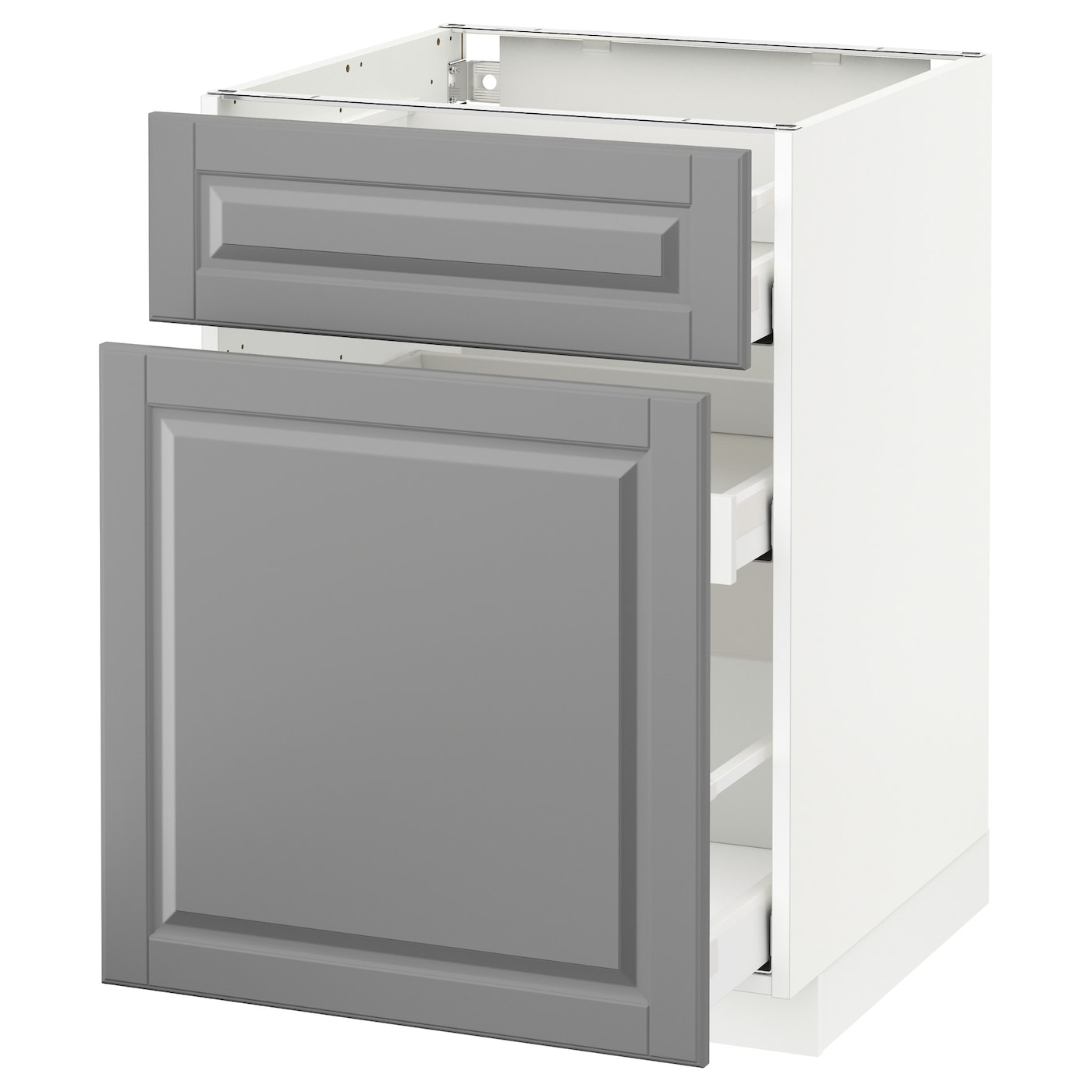 metod maximera base cabinet p out storage drawer white bodbyn grey 60 x 60 cm ikea. Black Bedroom Furniture Sets. Home Design Ideas