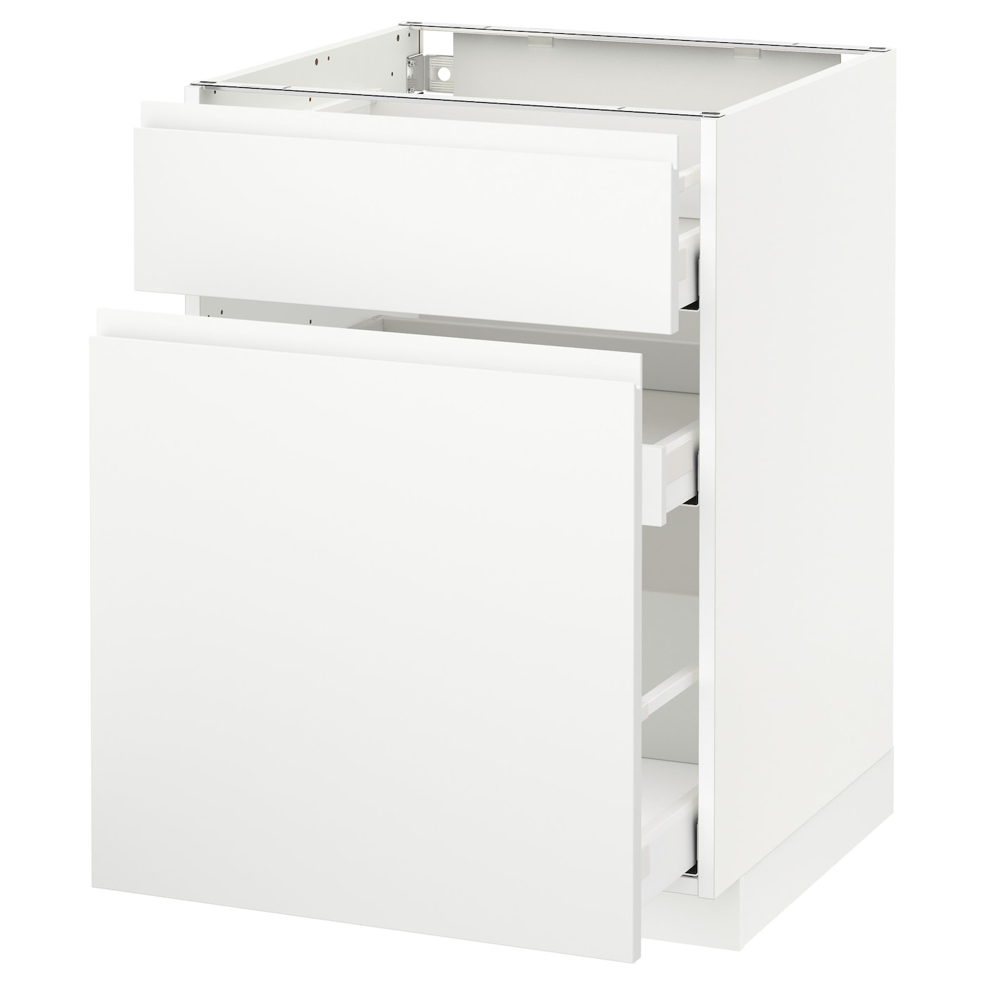 IKEA METOD/MAXIMERA base cabinet/p-out storage/drawer Smooth-running drawers with stop.