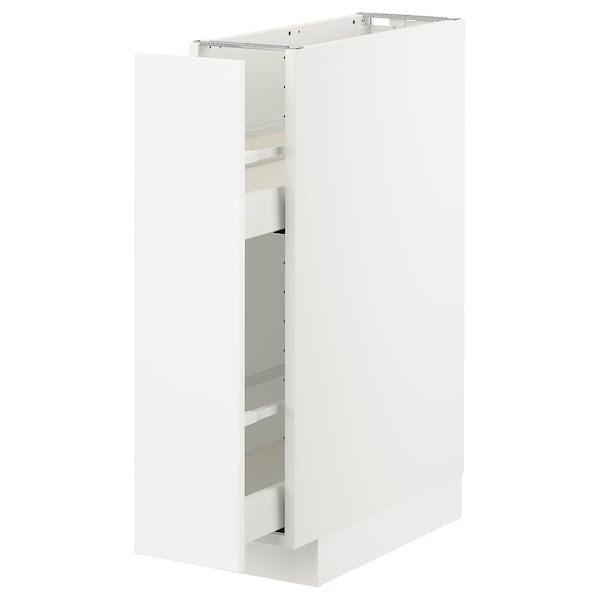 METOD / MAXIMERA Base cabinet/pull-out int fittings, white/Axstad matt white, 20x60 cm