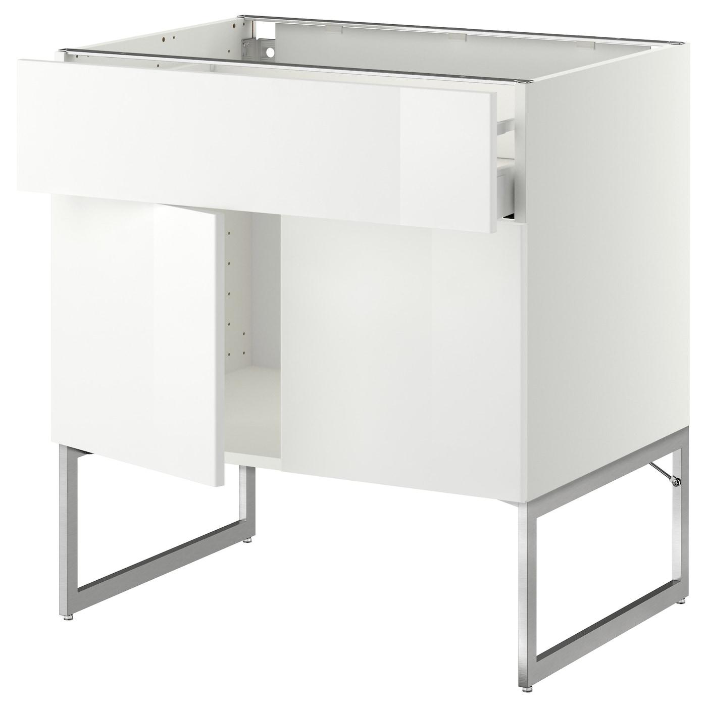 metod maximera base cabinet shelves drawer 2 doors white ringhult white 80x60x60 cm ikea. Black Bedroom Furniture Sets. Home Design Ideas