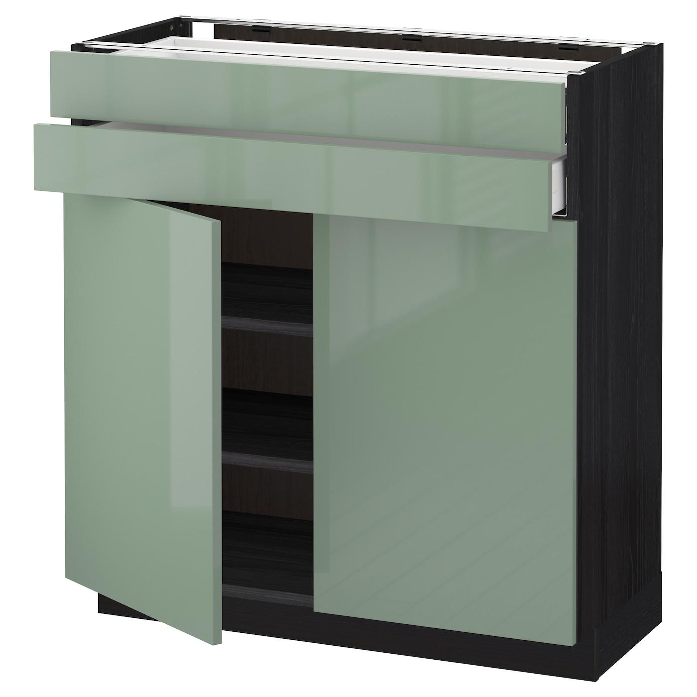 Ikea Green Kitchen Cabinets: METOD/MAXIMERA Base Cabinet W 2 Doors/2 Drawers Black