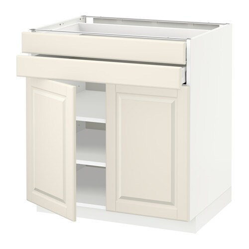 IKEA METOD/MAXIMERA base cabinet w 2 doors/2 drawers Smooth-running drawer with drawer stop.