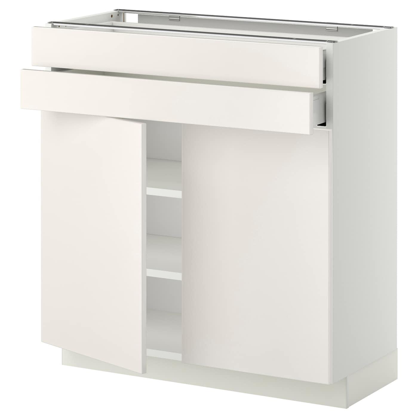 Metod Maximera Base Cabinet W 2 Doors 2 Drawers White