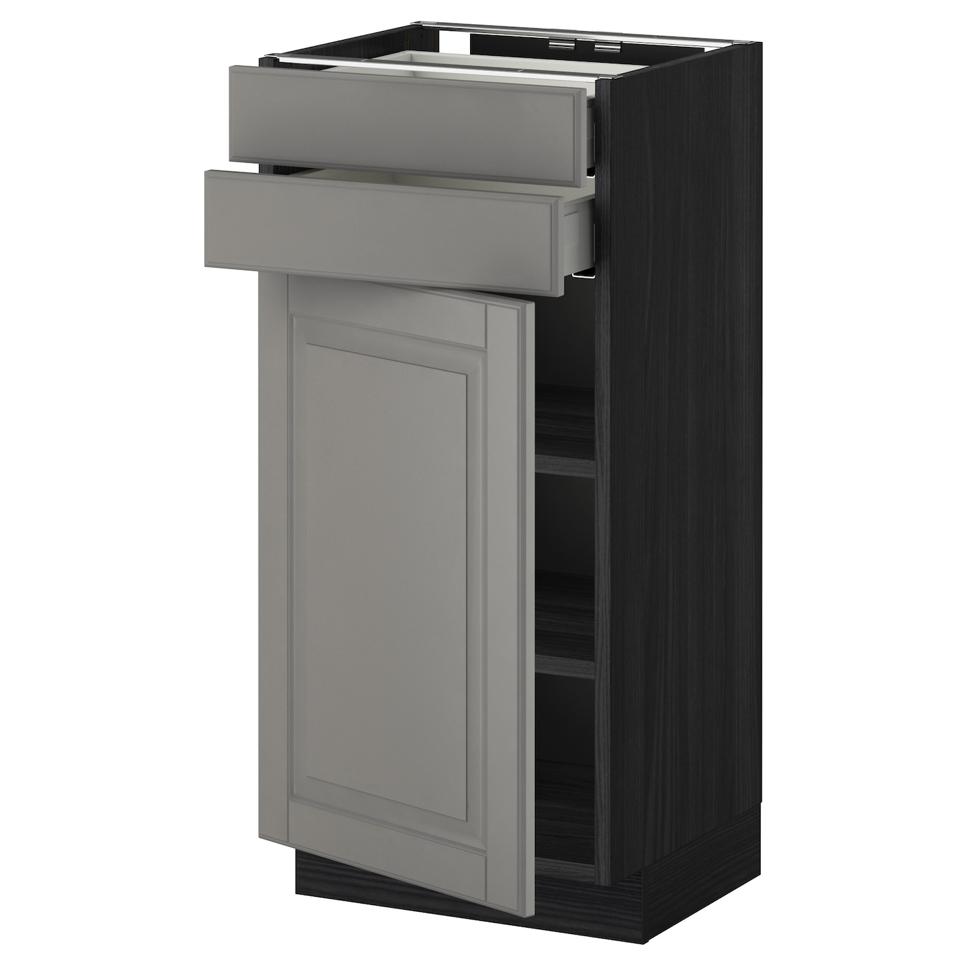 black base kitchen cabinets metod maximera base cabinet w door 2 drawers black bodbyn 12317