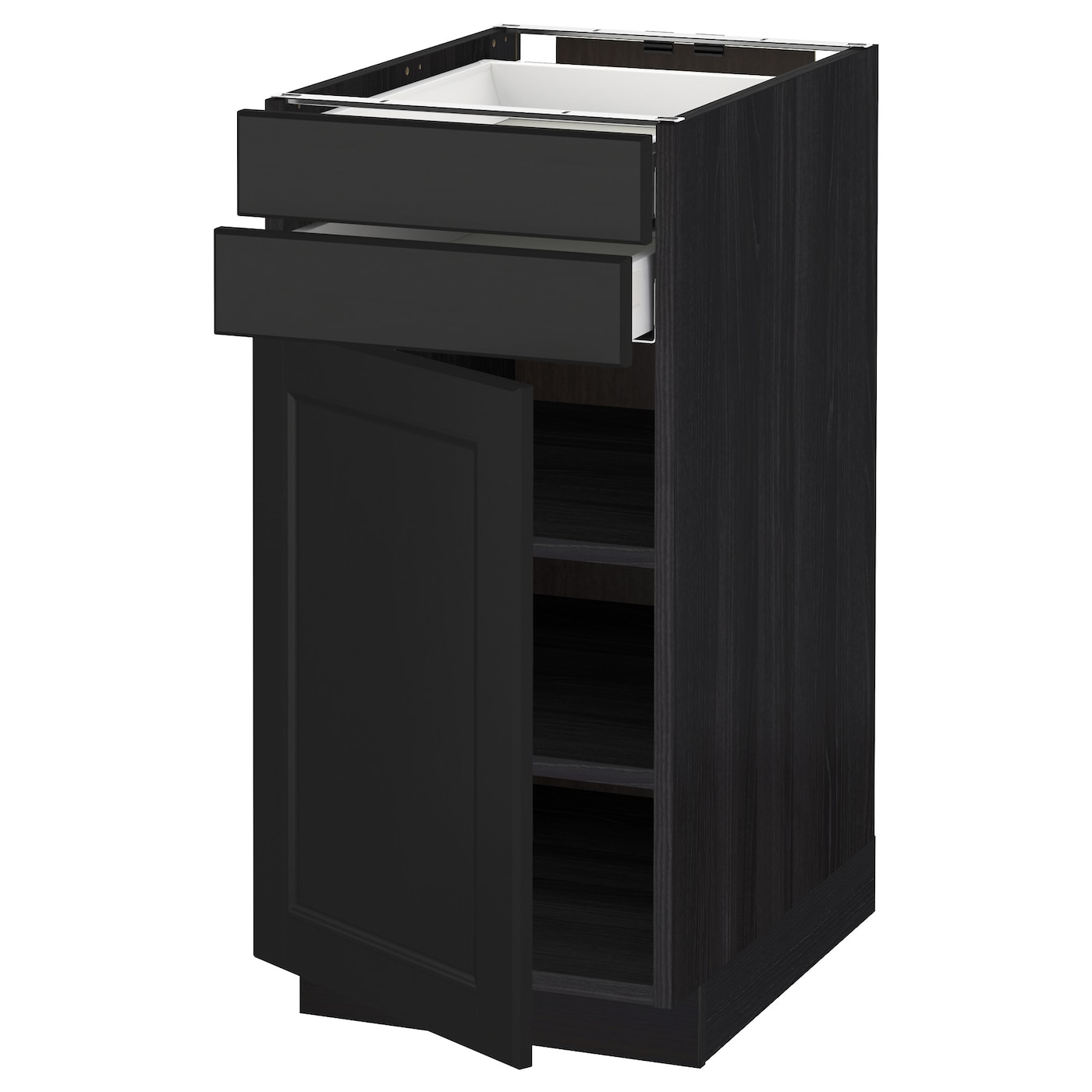 black kitchen base cabinets metod maximera base cabinet w door 2 drawers black laxarby 12375