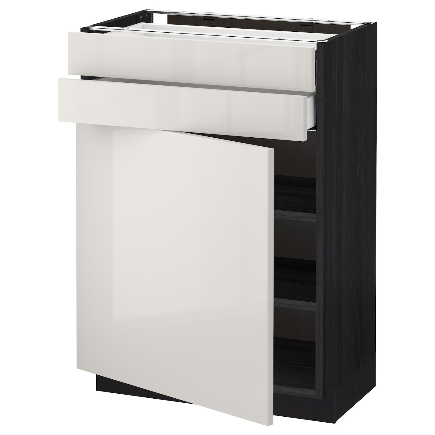 IKEA METOD/MAXIMERA base cabinet w door/2 drawers Smooth-running drawers with stop.