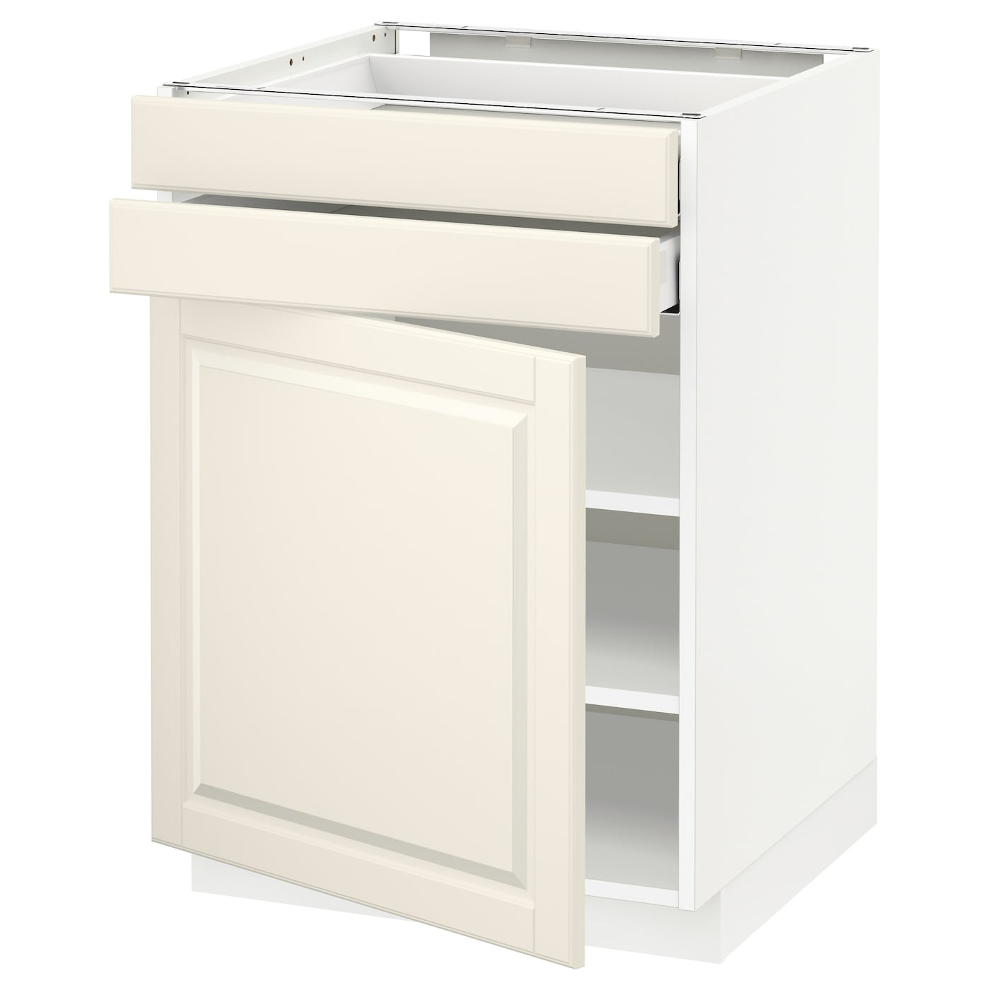 metod maximera base cabinet w door 2 drawers white bodbyn off white 60 x 60 cm ikea. Black Bedroom Furniture Sets. Home Design Ideas