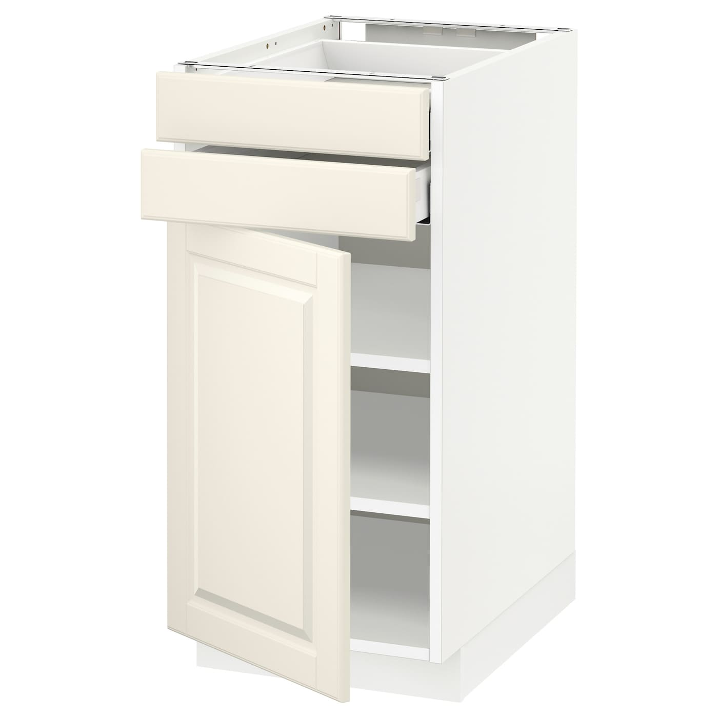 metod maximera base cabinet w door 2 drawers white bodbyn off white 40 x 60 cm ikea. Black Bedroom Furniture Sets. Home Design Ideas