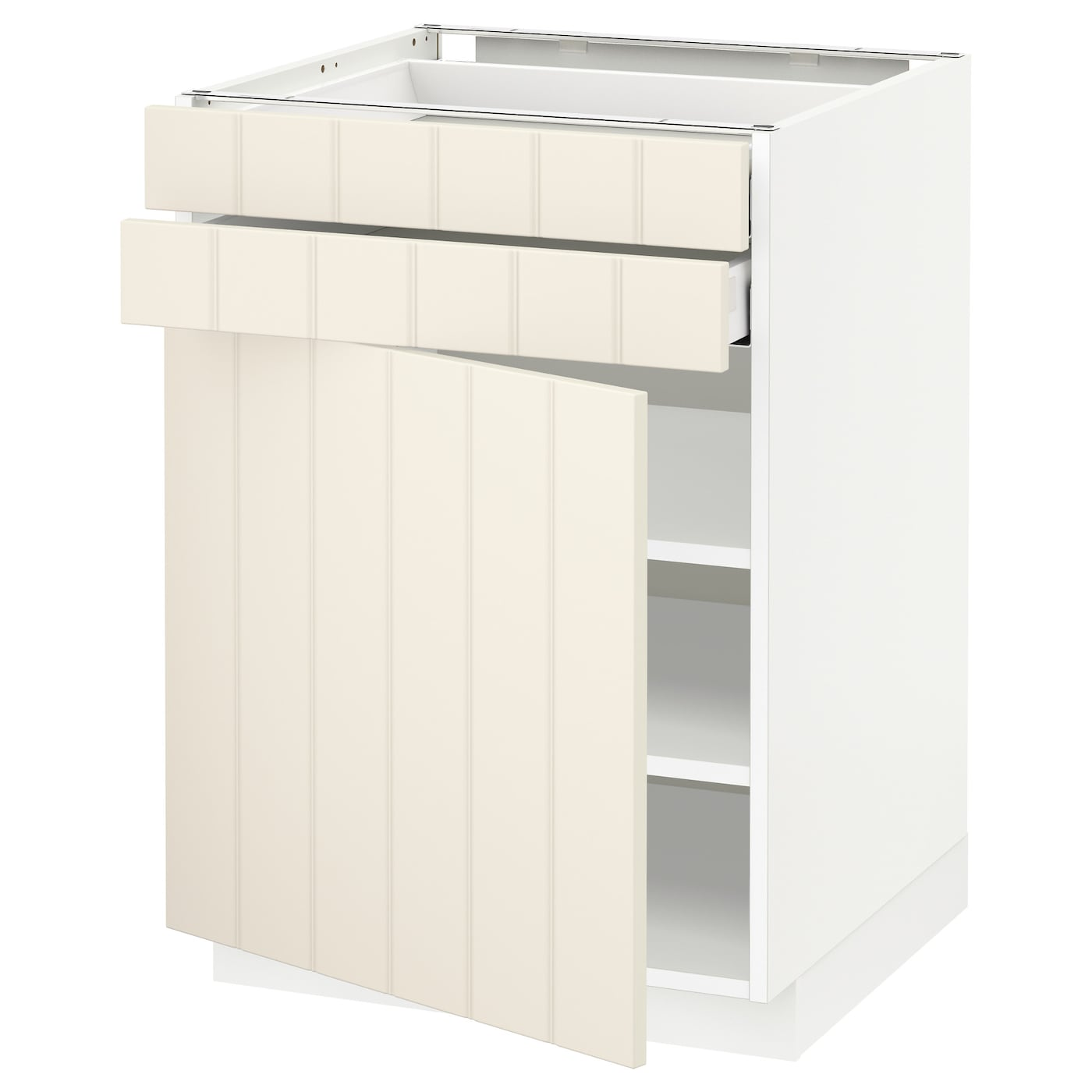 IKEA METOD/MAXIMERA base cabinet w door/2 drawers Smooth-running drawer with drawer stop.