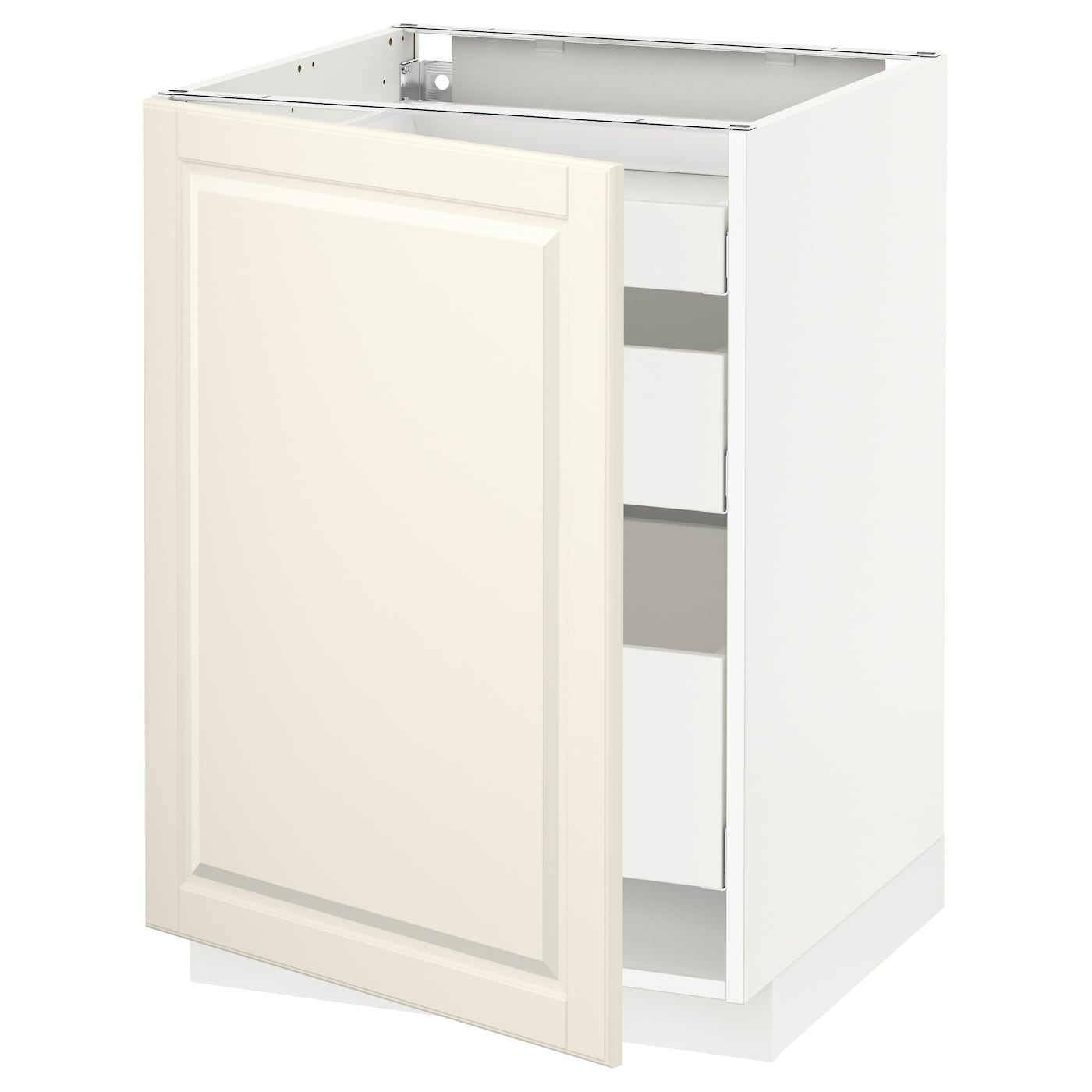 IKEA METOD/MAXIMERA base cabinet with 1 door/3 drawers Smooth-running drawers with stop.