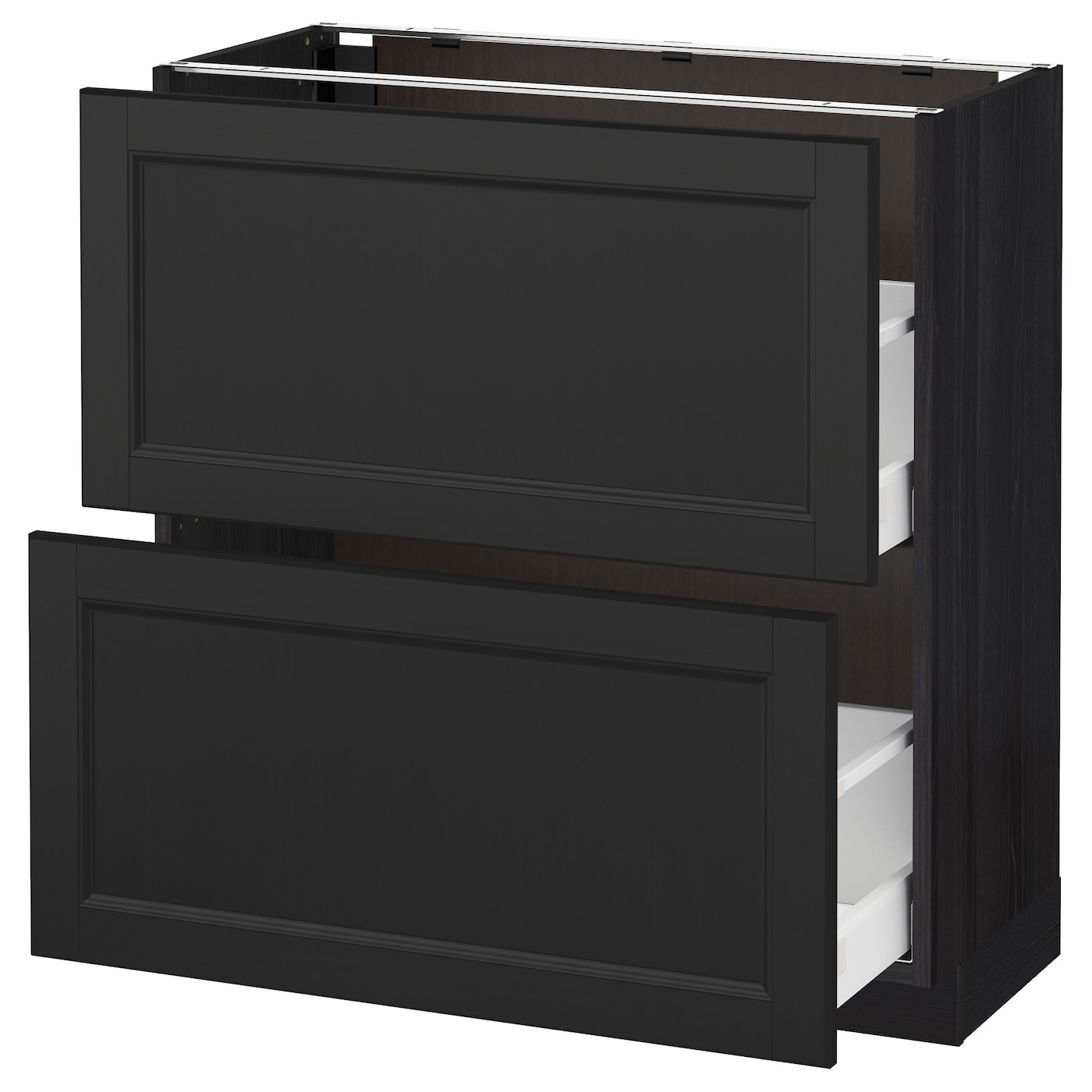 Ikea Kitchen Laxarby: METOD/MAXIMERA Base Cabinet With 2 Drawers Black/laxarby