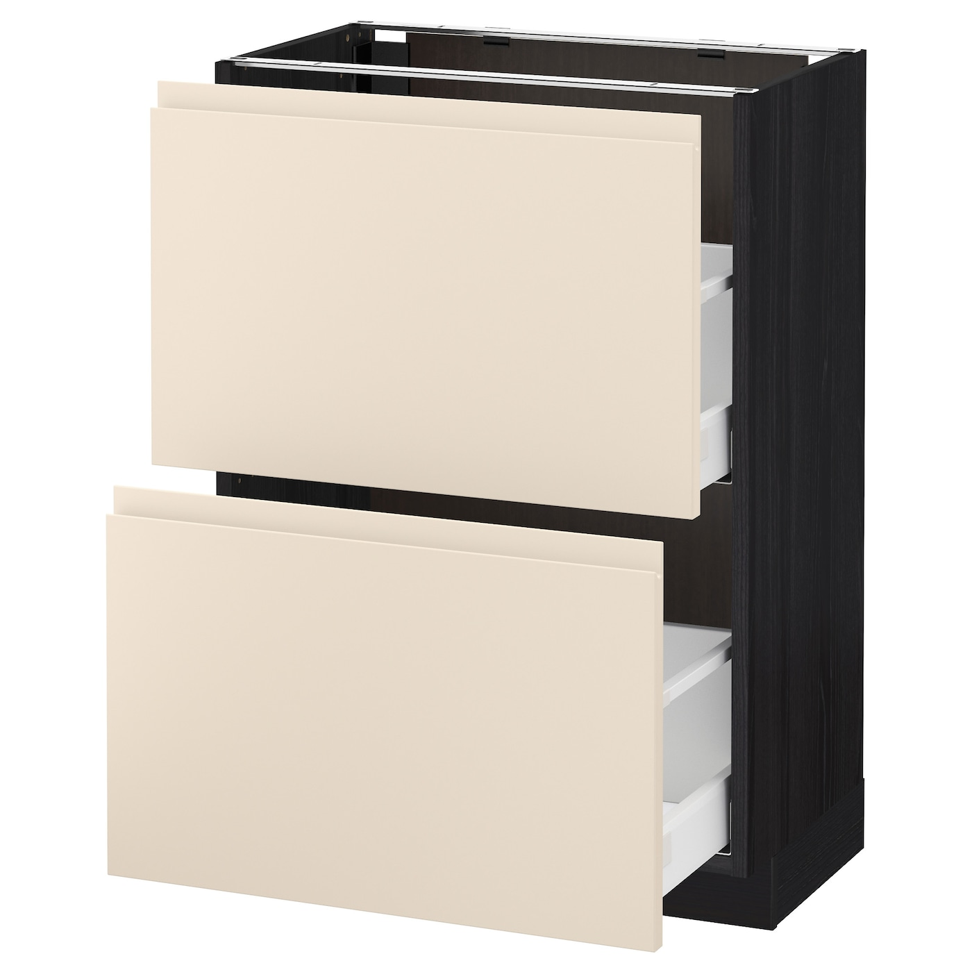 IKEA METOD/MAXIMERA base cabinet with 2 drawers Smooth-running drawers with stop.