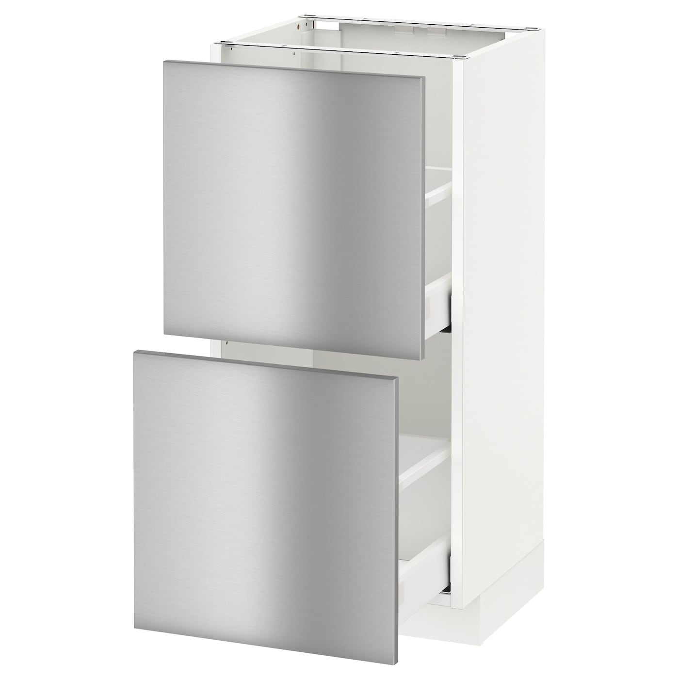 METOD/MAXIMERA Base Cabinet With 2 Drawers White/grevsta