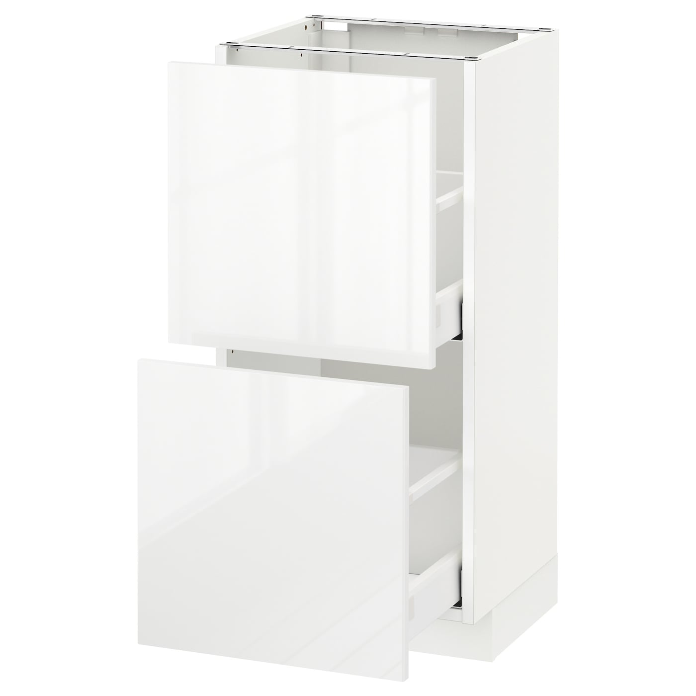 Ringhult Drawer Front High Gloss White 60 X 40 Cm: METOD/MAXIMERA Base Cabinet With 2 Drawers White/ringhult