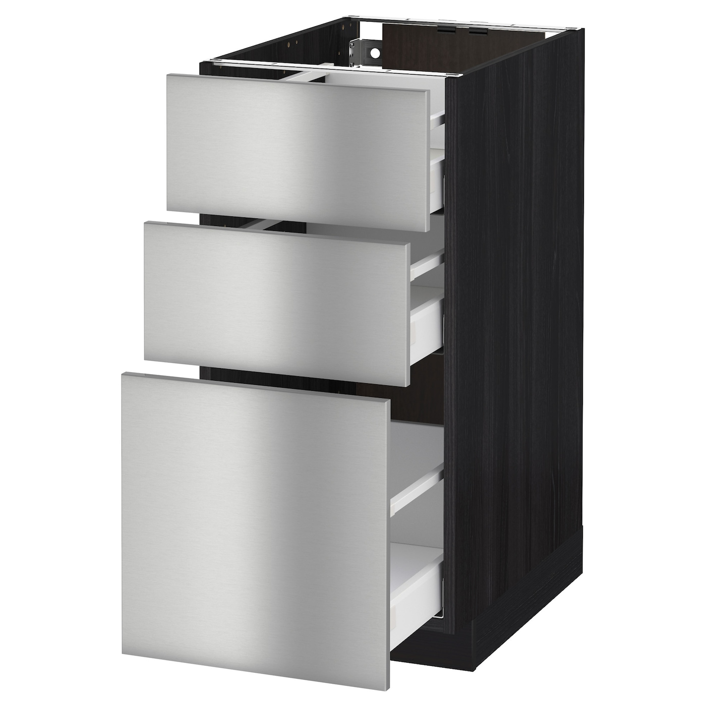 IKEA METOD/MAXIMERA base cabinet with 3 drawers Smooth-running drawers with stop.