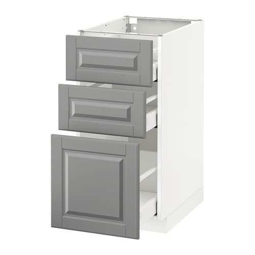 ikea kitchen cabinet drawers metod maximera base cabinet with 3 drawers white bodbyn 17627