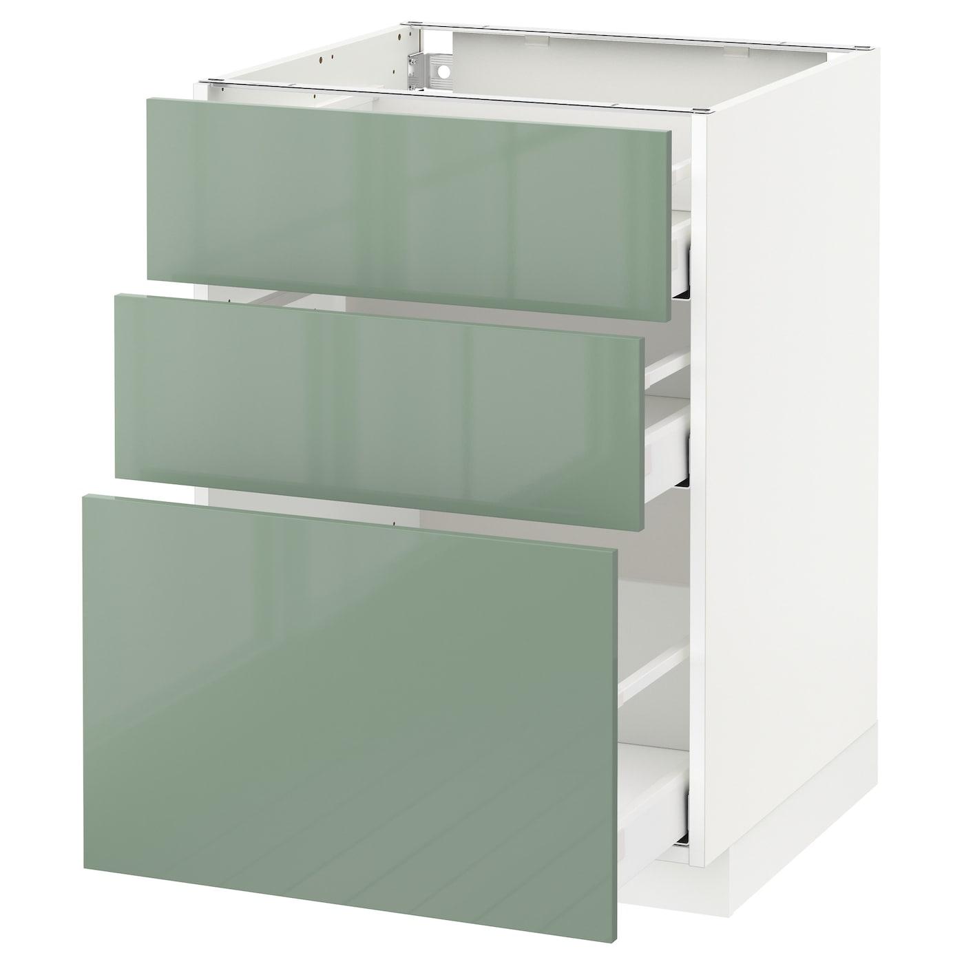Ikea Green Kitchen Cabinets: METOD/MAXIMERA Base Cabinet With 3 Drawers White/kallarp