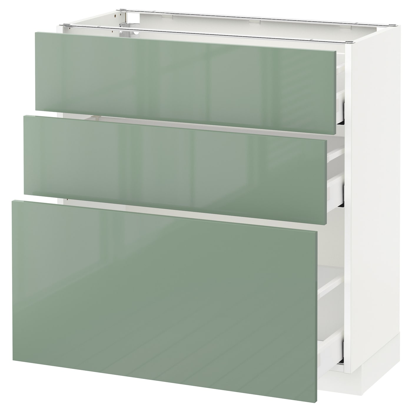 Ikea Kitchen Cabinet Lighting: METOD/MAXIMERA Base Cabinet With 3 Drawers White/kallarp
