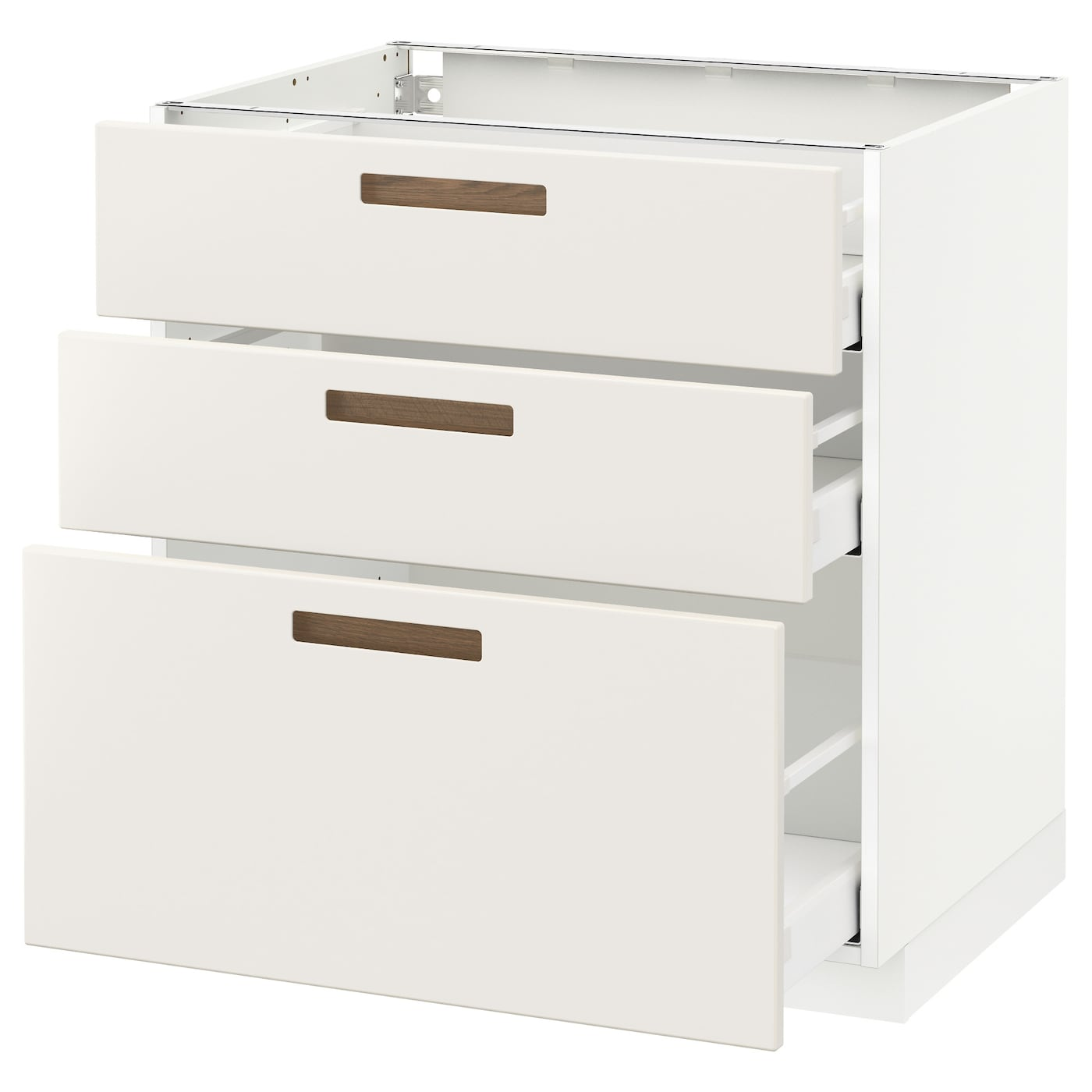 metod maximera base cabinet with 3 drawers white m rsta white 80 x 60 cm ikea. Black Bedroom Furniture Sets. Home Design Ideas