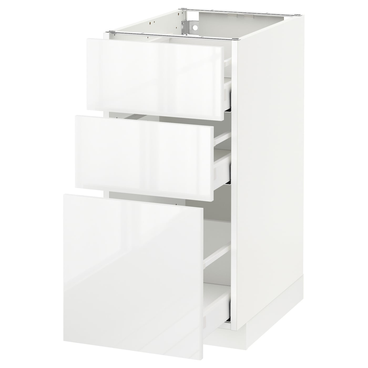 metod maximera base cabinet with 3 drawers white ringhult white 40 x 60 cm ikea. Black Bedroom Furniture Sets. Home Design Ideas