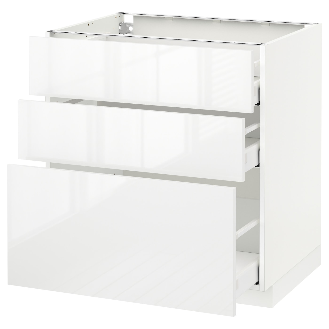 metod maximera base cabinet with 3 drawers white ringhult white 80 x 60 cm ikea. Black Bedroom Furniture Sets. Home Design Ideas