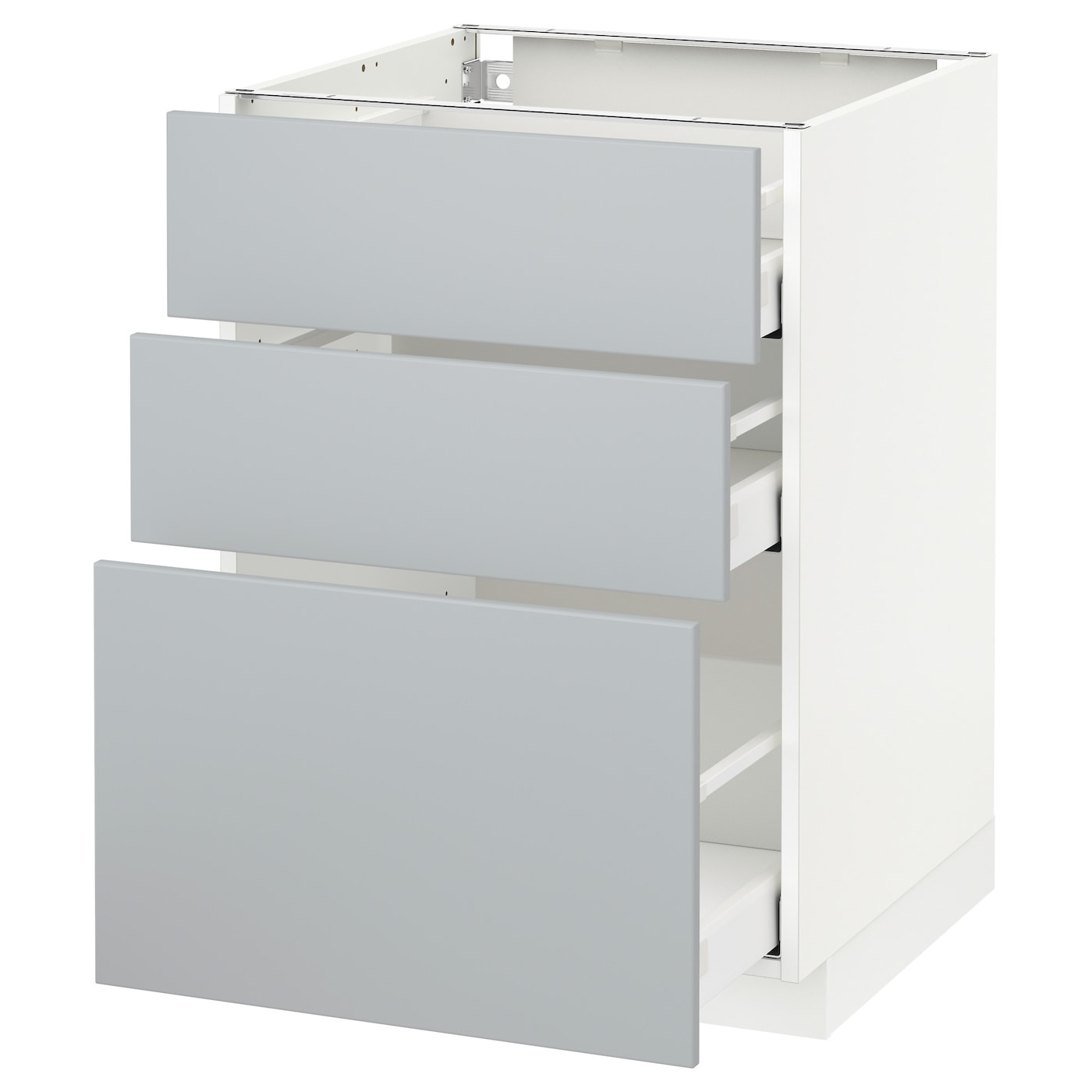 METOD / MAXIMERA Base cabinet with 15 drawers - white, Veddinge grey 15x15 cm