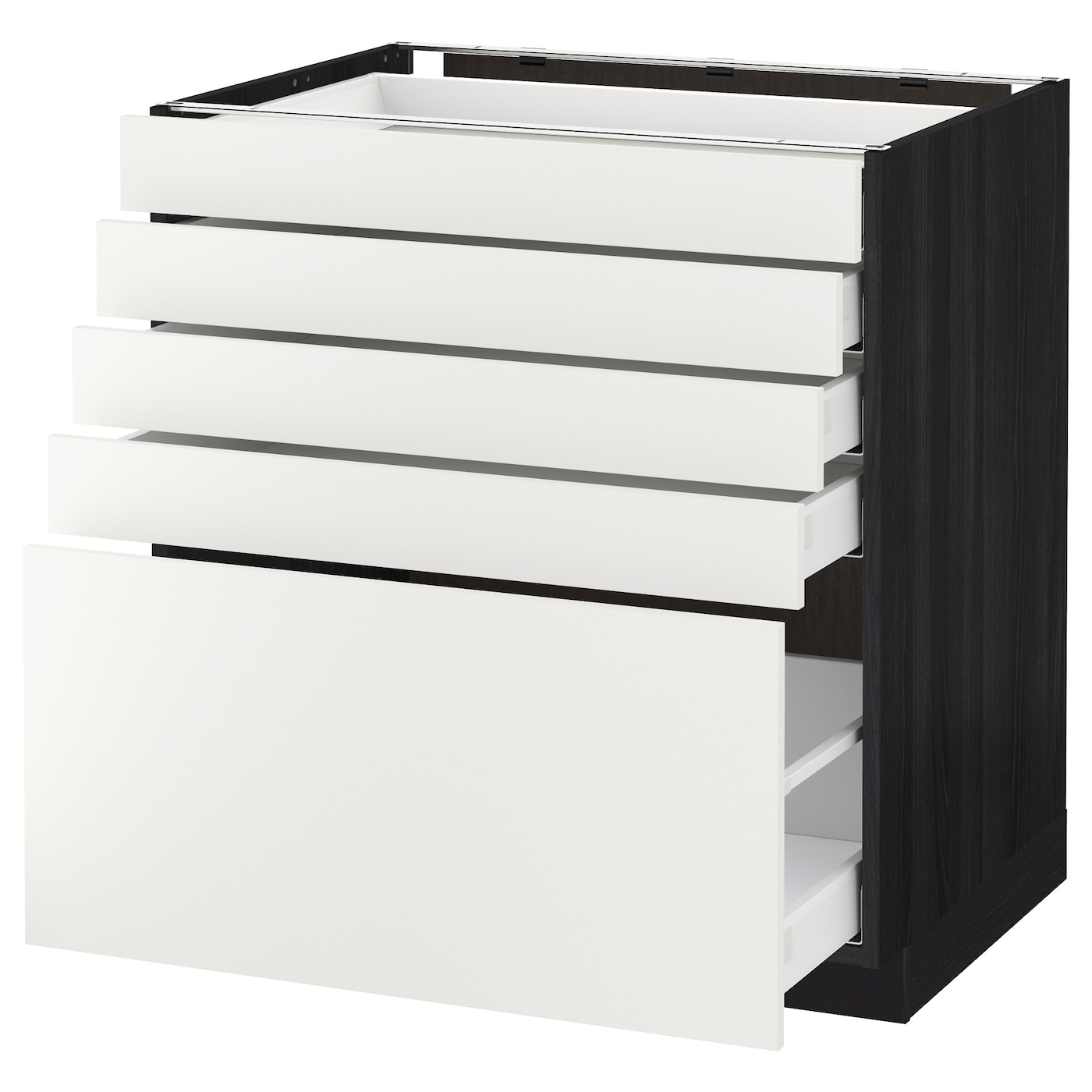 IKEA METOD/MAXIMERA base cabinet with 5 drawers Smooth-running drawers with stop.