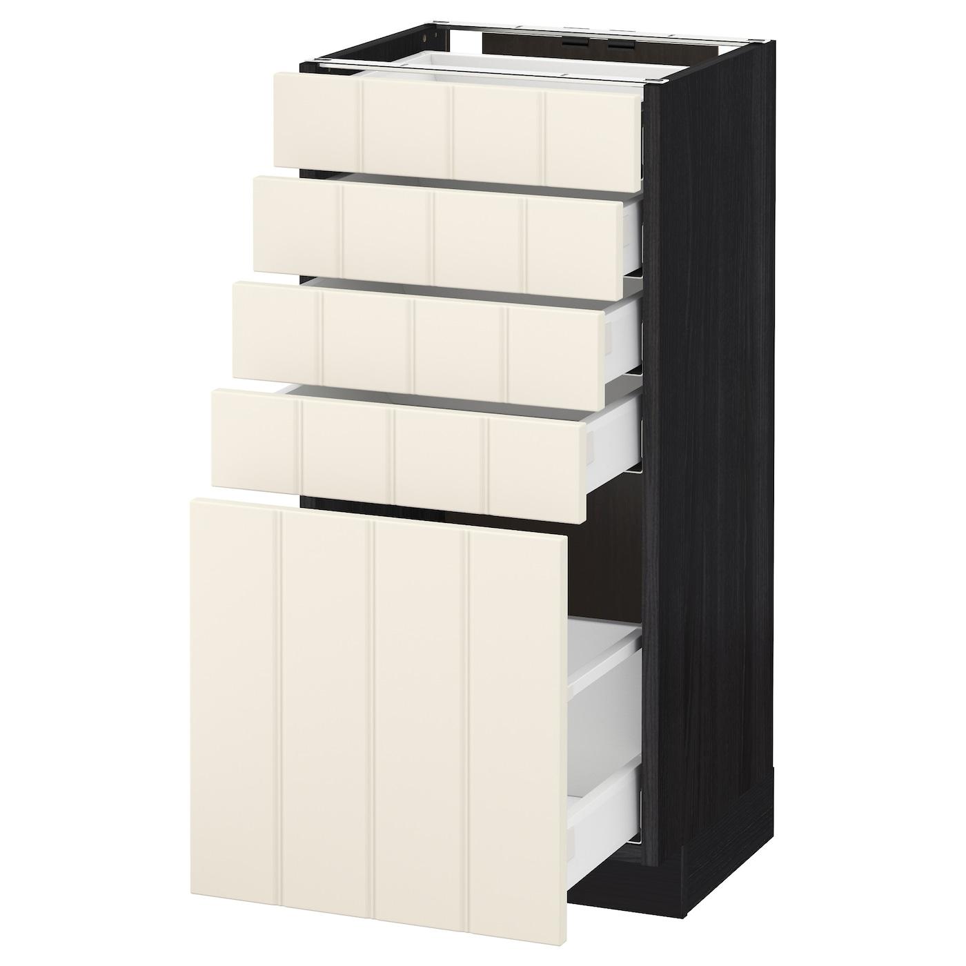 metod maximera base cabinet with 5 drawers black hittarp off white 40 x 37 cm ikea. Black Bedroom Furniture Sets. Home Design Ideas