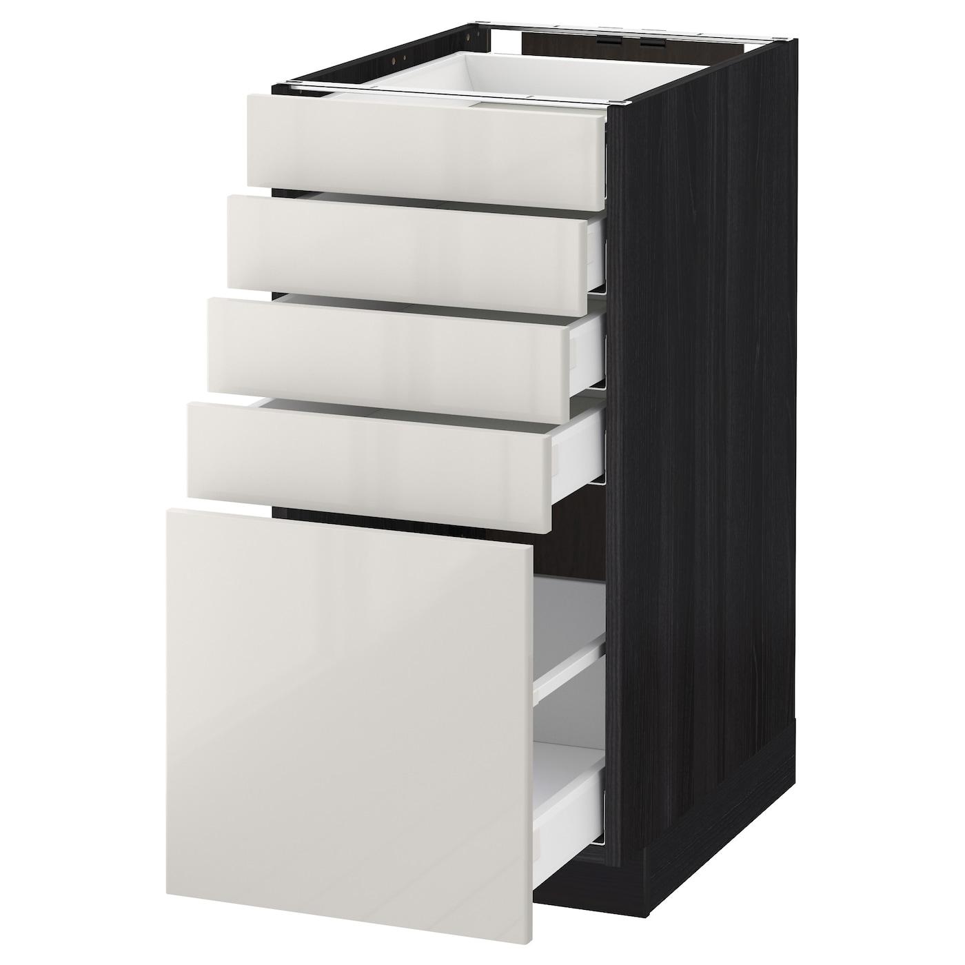 metod maximera base cabinet with 5 drawers black ringhult light grey 40 x 60 cm ikea. Black Bedroom Furniture Sets. Home Design Ideas