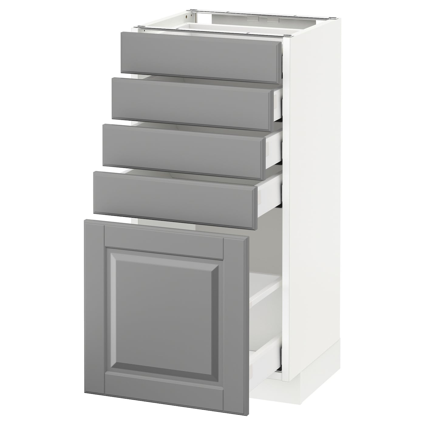 metod maximera base cabinet with 5 drawers white bodbyn grey 40 x 37 cm ikea. Black Bedroom Furniture Sets. Home Design Ideas