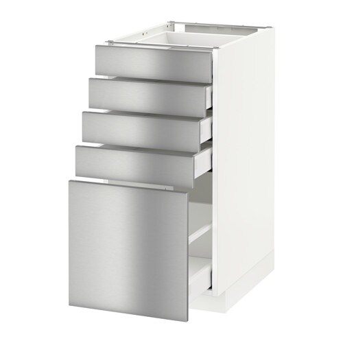 METOD/MAXIMERA Base Cabinet With 5 Drawers White/grevsta