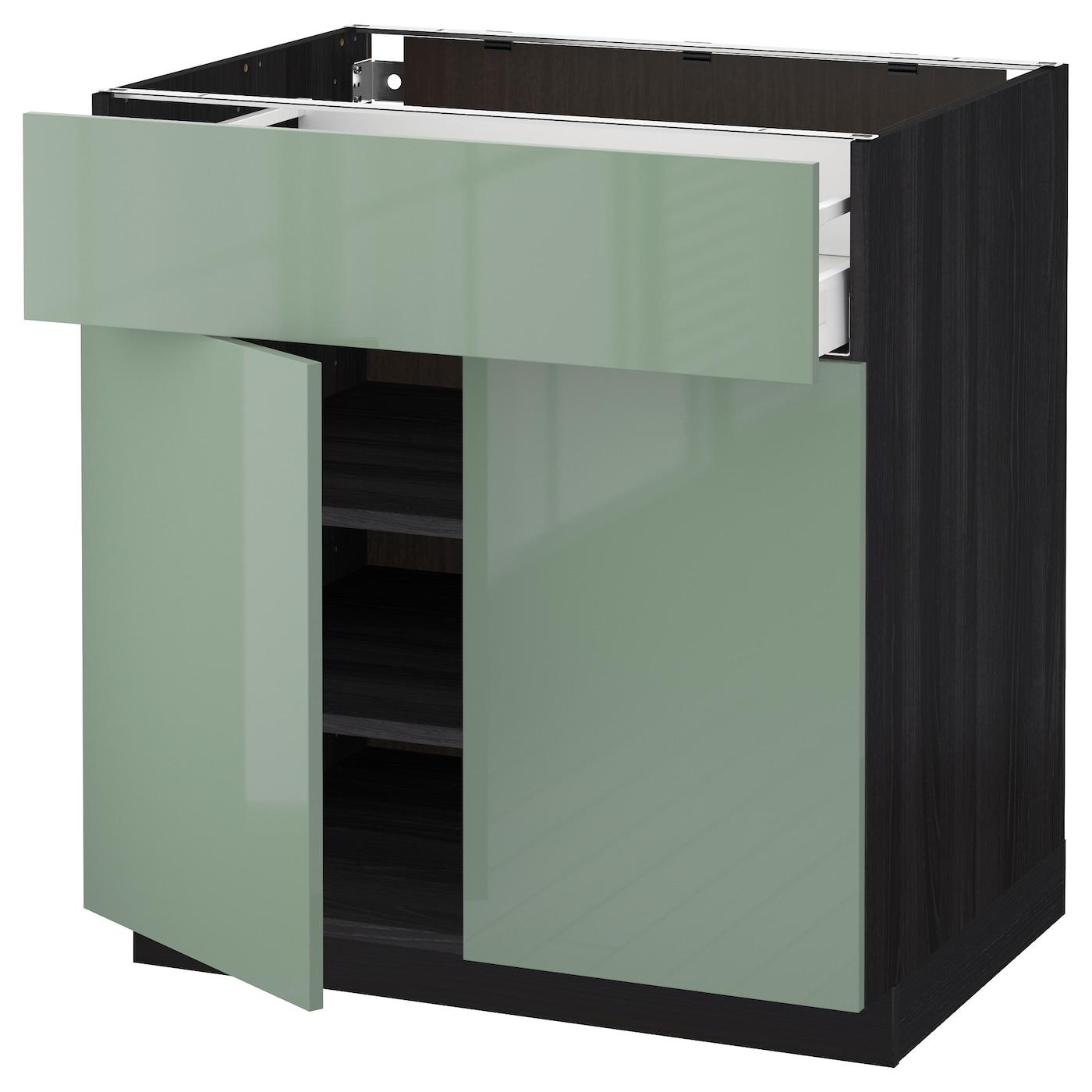 METOD/MAXIMERA Base Cabinet With Drawer/2 Doors Black