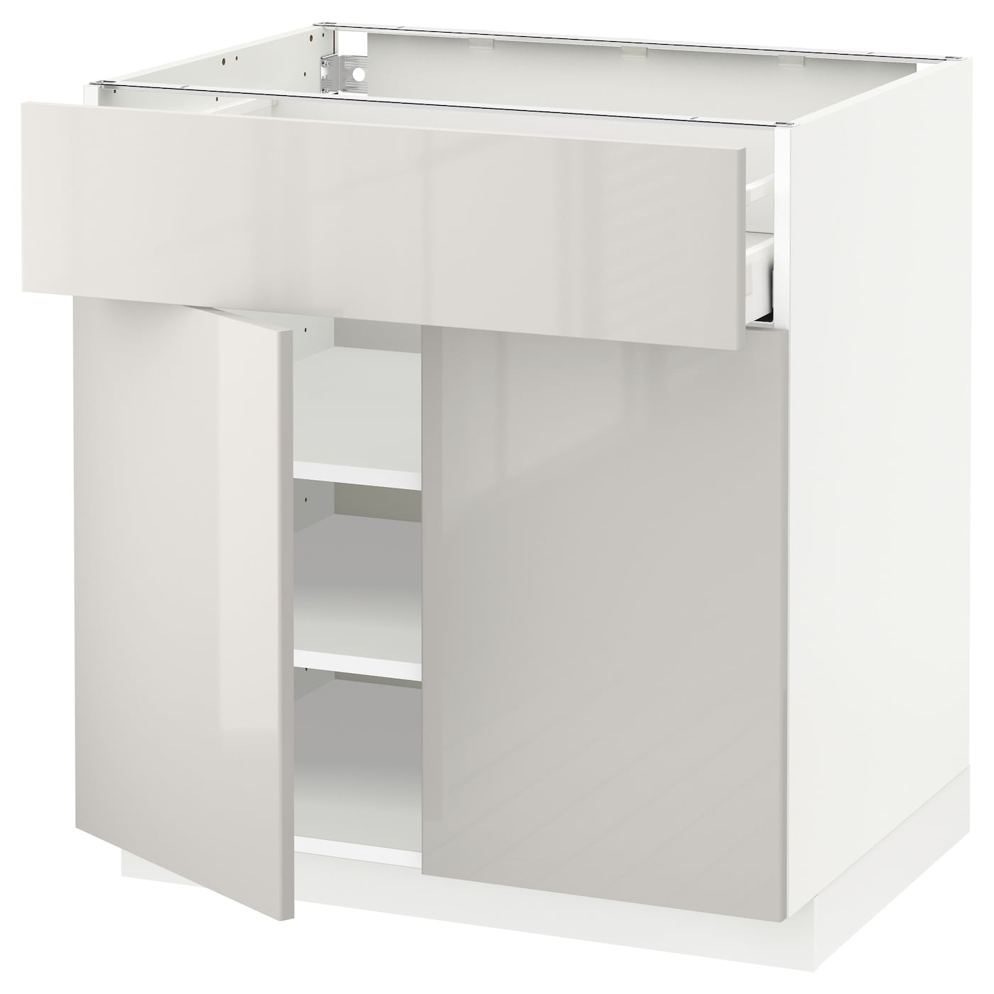 METOD/MAXIMERA Base Cabinet With Drawer/2 Doors White