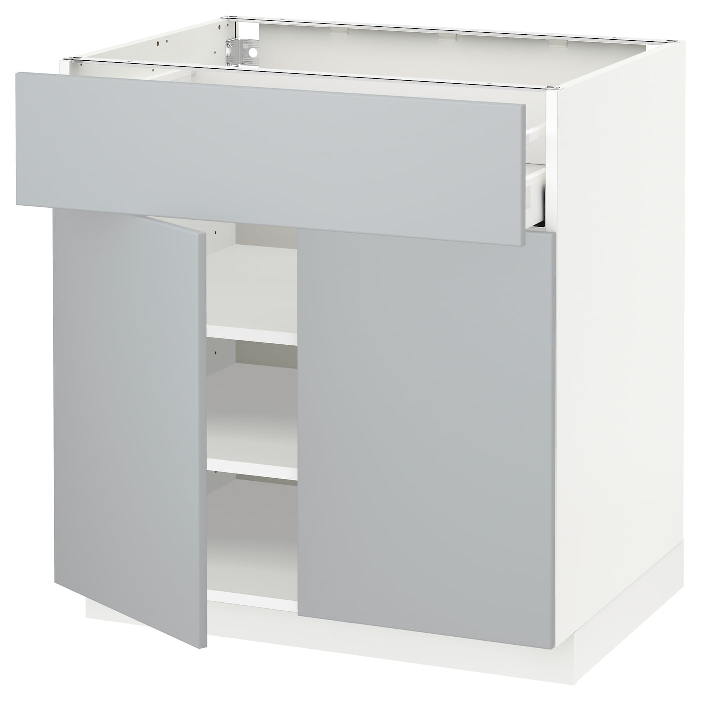 metod maximera base cabinet with drawer 2 doors white veddinge grey 80 x 60 cm ikea. Black Bedroom Furniture Sets. Home Design Ideas