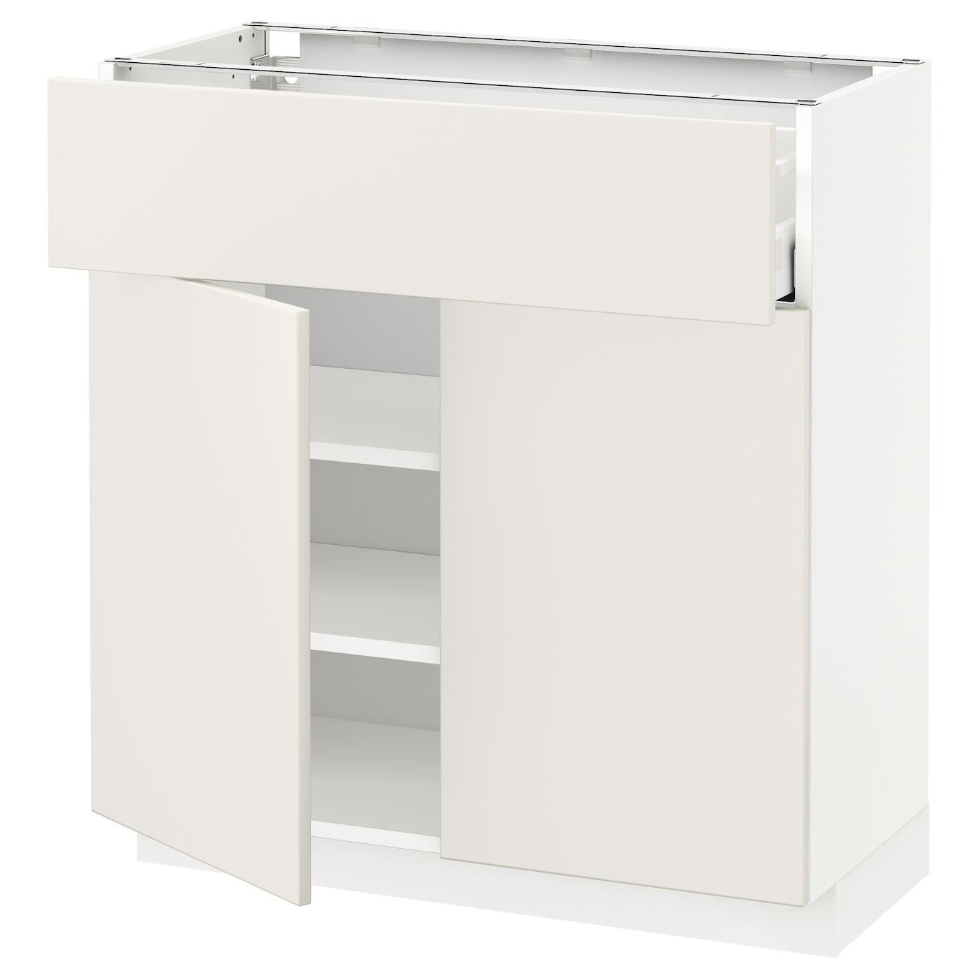 Ikea Kitchen Veddinge White: METOD/MAXIMERA Base Cabinet With Drawer/2 Doors White