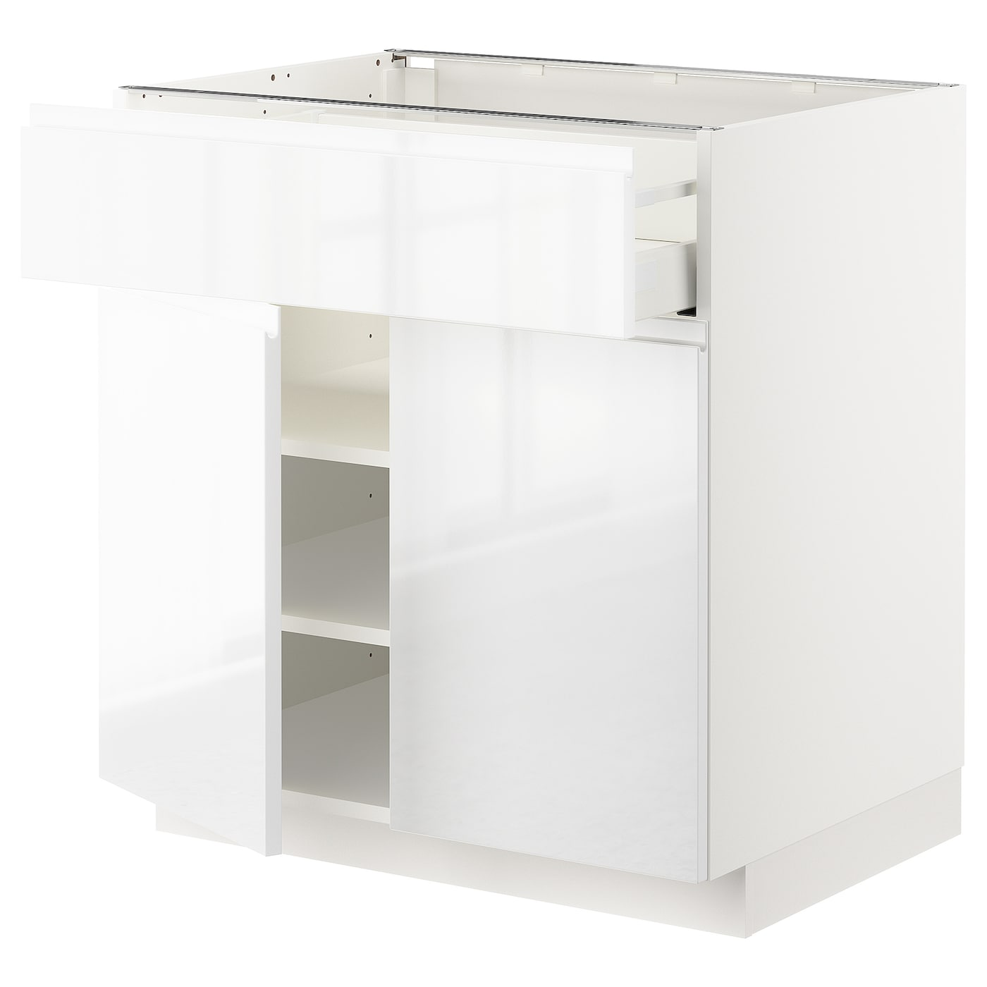 Gloss White Kitchen Cupboard Doors Best Products Seoras: METOD/MAXIMERA Base Cabinet With Drawer/2 Doors White